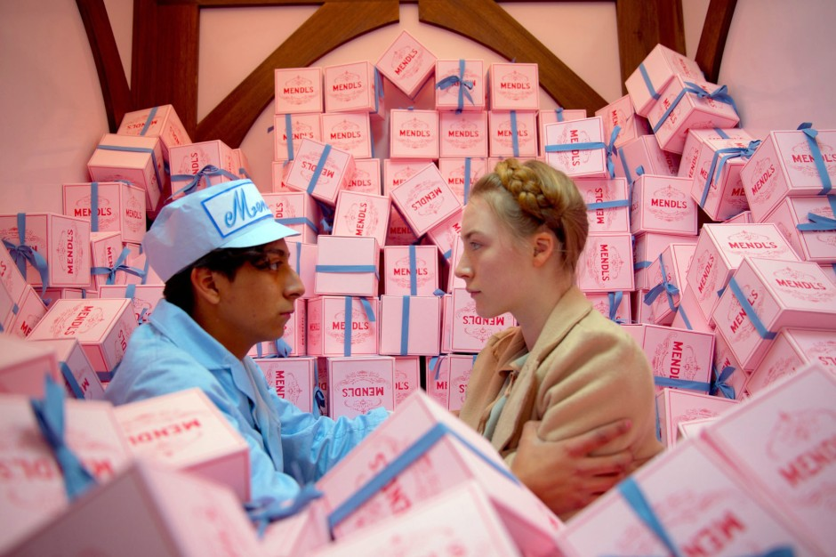 "Tony Revolori, left, as Zero Moustafa and Saoirse Ronan as Agatha in a still from the film ""The Grand Budapest Hotel."" Photo: EPA"