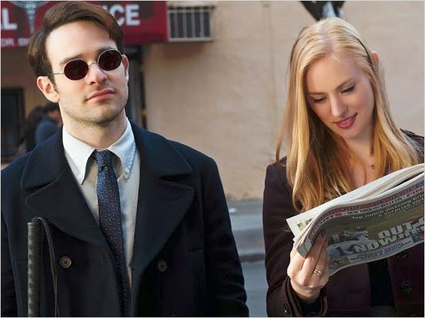 Matt Murdoch aka Daredevil et son assistante Karen Page. © Netflix