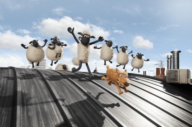 Shaun et sa bande à l'aventure dans la grande ville. © Studio Canal