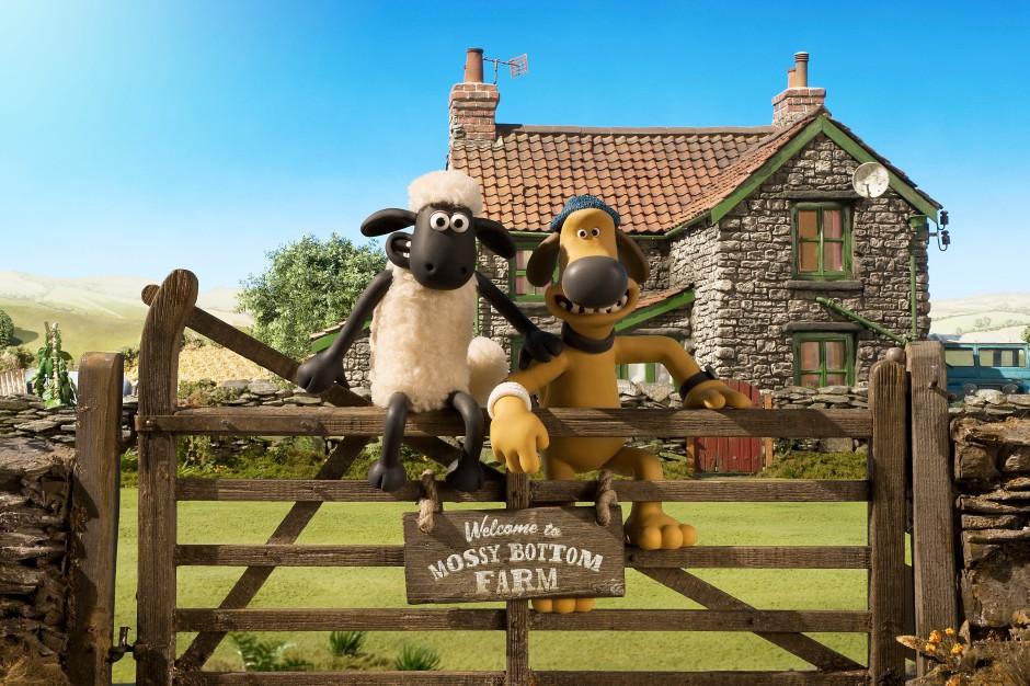 Shaun le mouton par les studios Aardman