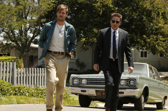 David Duchovny et Grey Damon dans Aquarius © Vivian Zink/NBC