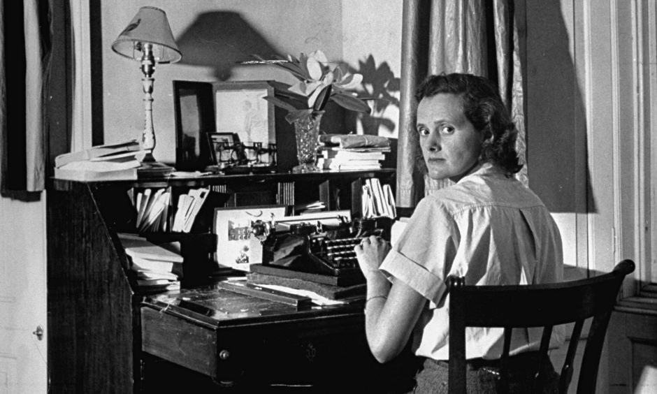 Author Daphine Du Maurier at her desk. Photograph: Hans Wild/Time Life Pictures/Getty Images