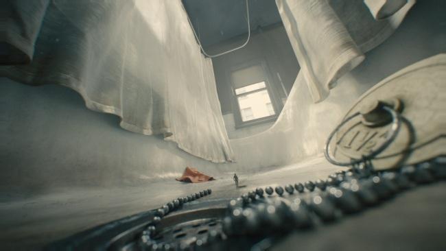 Premier essai du costume pour Scott Lang, transformé en Ant-Man © Marvel 2014, Zade Rosenthal