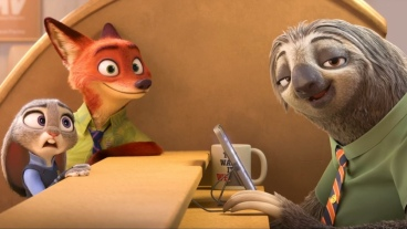 Nick Wilde et Judy Hobbs face au paresseux © The Walt Disney Company France