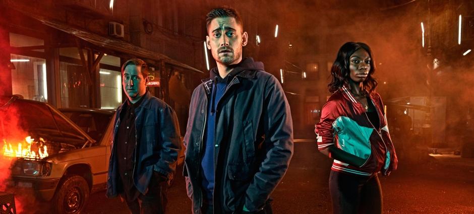 The Aliens sur E4 avec Jim Howick, Michael Socha and Michaela Coel © Channel 4 Picture Publicity