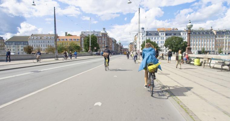 A Copenhague, capitale danoise où 50% des habitants de la ville se déplacent à vélo. © Mars Distribution