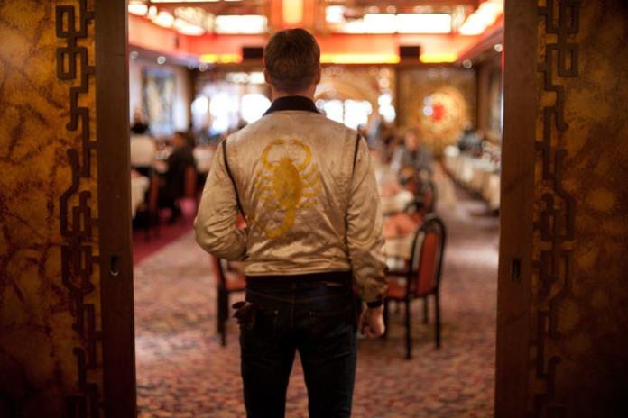 Le chauffeur de Nicolas Winding Refn, jamais sans son blouson scorpion. © 2011 - FilmDistrict