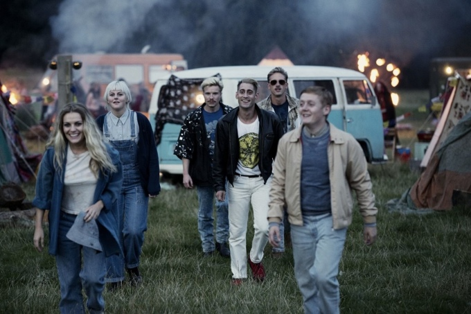 Kelly, Harvey, Gadget, Shaun and Trev dans This is England '90 de Shane Meadows © Channel 4