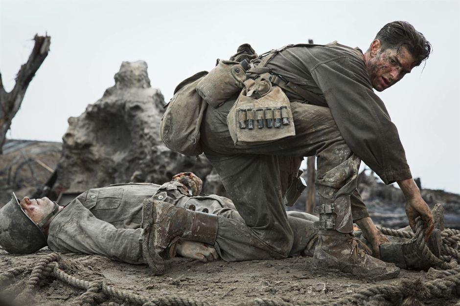 Desmond Ross sur le champ de bataille du film Tu ne tueras point de Mel Gibson © Mark Rogers