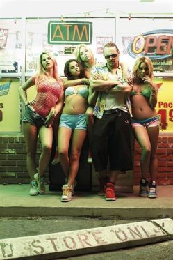 Alien (James Franco) et son nouveau gang de filles dans Spring Breakers de Harmony Korine © Muse Productions