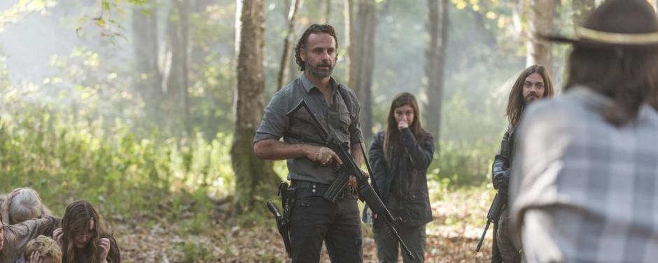 Bilan de la septième saison de The Walking Dead. Le héros Rick (Andrew Lincoln) va employer tous les moyens pour rallier les communautés à sa cause. © Gene Page/AMC