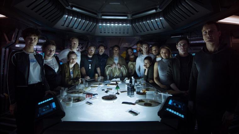 L'équipage du vaisseau Covenant, au complet. © 2017 Twentieth Century Fox
